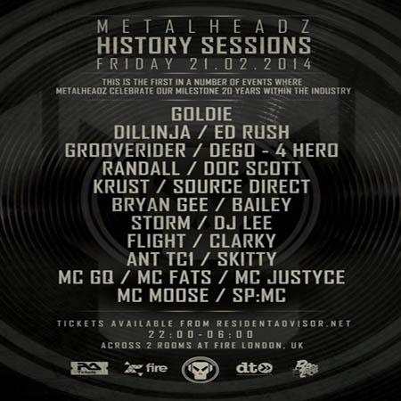 Metalheadz History Sessions 21-02-2014